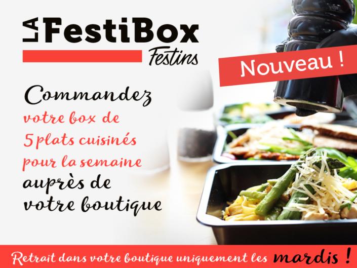 Découvrez notre offre FestiBox, 5 plats pour la semaine à commander auprès de votre boutique