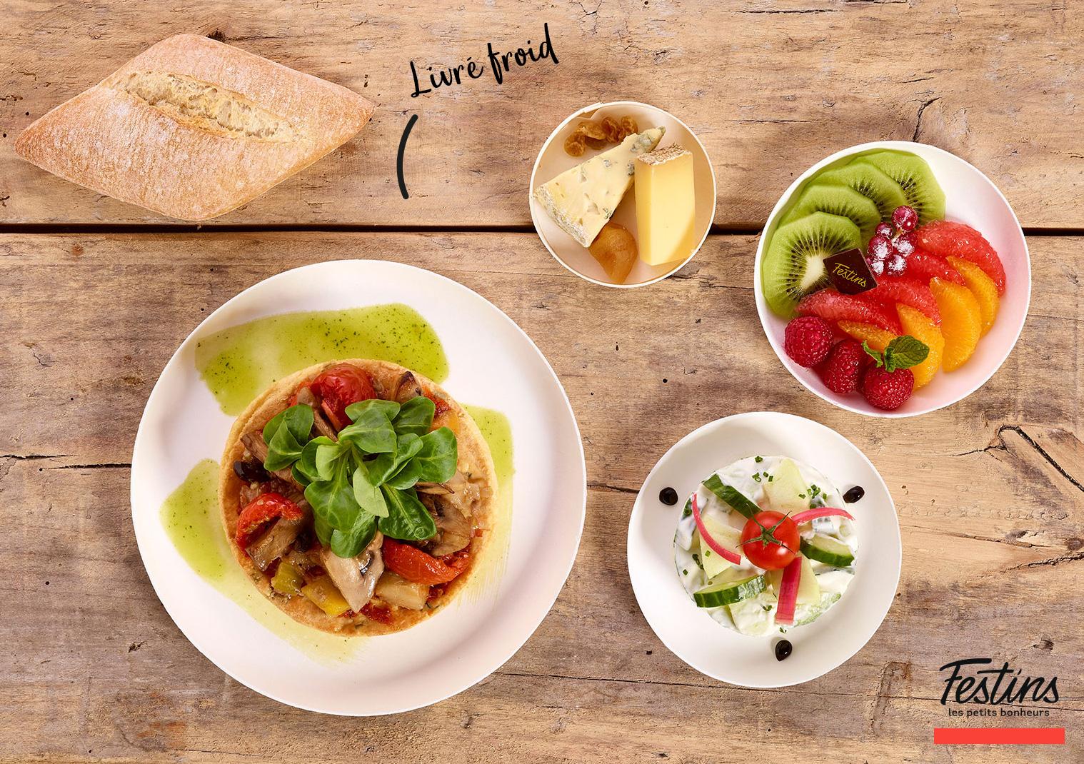 Plateau repas Végétarien - Traiteur